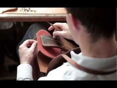 How to Saddle Stitch Like an Hermès Leather Craftsman ~ using thread coated with beeswax, needle threaded to both ends (see other tutorial)