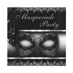 Masquerade Party Invite by TreasureTheMoments