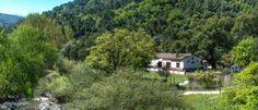 Restaurante del Camping El Genal, a orillas del río Genal