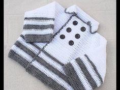 (54) Abrigo de niño a crochet muy facil y rapido . - YouTube