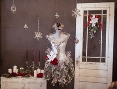 Beautiful Winter Faerie Mannequin.   Photo by Janellabelle Photo.
