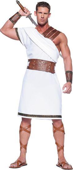 Adult Greek Warrior Costume ($39.99) - Party City ONLINE   3 stars  