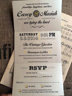 Cute Convenient Trifold Rustic Beachy Wedding Invitations Invites Announcements RSVP by SAEdesignstudio