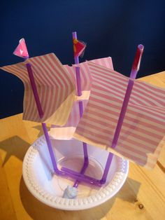 How to make a toy boat with masts. Luke wants to find a pirate printable and use instead of wrapping paper. Make A Boat, Build Your Own Boat, Boat Crafts, Crafts For Kids, How To Build Abs, How To Make, Junk Modelling, Floating Boat, Shapes Images