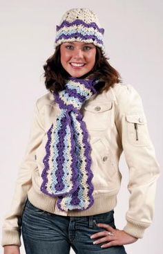 Ripple Hat and Scarf Crochet Pattern