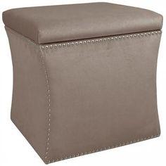 "Caiden Custom-Upholstered Vanity Stool - Upholstered Vanity Stool - Vanity Seat - Makeup Stool - Dressing Stool | HomeDecorators.com 19""Hx19""SQUARE"