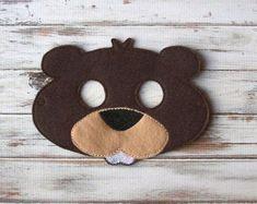 Beaver Mask - Woodland Animal, Felt Mask - Imaginative Play, Dress Up - Halloween, Costume Duck Mask, Pig Mask, Bear Mask, Monkey Mask, Fairy Halloween Costumes, Halloween Masks, Halloween Ideas, Cute Koala Bear, Felt Kids