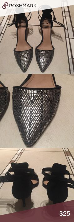 "Zara kitten heels Used and in good condition Zara trafalic heels. Heel is about 2"" Zara Shoes"
