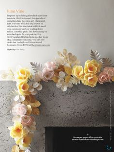 373 best paper flowers for wedding images on pinterest artificial endless love hanging paper flowershow mightylinksfo
