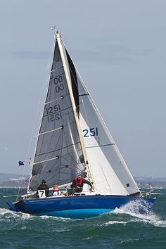 The Contessa 26 yacht 'Jiminy Cricket' competing in a class 7 IRC race during Aberdeen Asset Management Cowes Week. #sailboats #boats #sailing