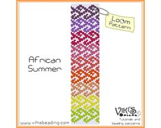 Bead Loom Pattern: African Summer - INSTANT DOWNLOAD pdf - Buy 2 Get 1 free with coupon codes