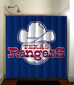 Fatboy Studio Printed Waterproof Polyester Fabric Shower Curtain With Cool Curtains Texas Rangers