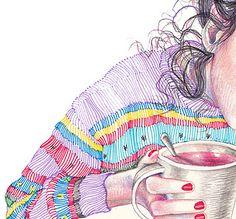 Y cada tarde se sentaba con la esperanza en manos, acompañada de una taza de té y un poco más de soledad.
