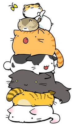 A cute pile of cats :3