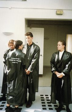 Comme des Garçons runway staff uniforms, 1987