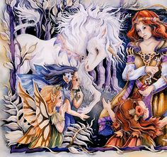 Jody Bergsma/ Unicom & Fairy art