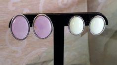 Arete piedra verde limon la piedra se llama Crisofrasa y el rosa es jaspe porcelana Hermosos!!!