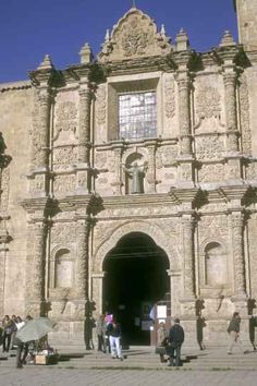 La Paz - The Iglesia de San Francisco in La Paz is notable for its intricately carved façade, one the finest examples of baroque-mestizo architecture in the Americas.
