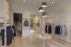 Дизайн интерьера бутика одежды Sunspel от Humphrey + Edwards в Австралии