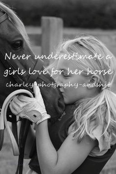 a girl and her horse. That is more powerful than any body builder