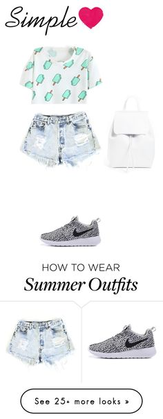 """Simple summer outfit"" by yasminedd on Polyvore featuring Levi's and Mansur Gavriel"