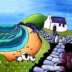 Mwnt 3 sheep | Helen Elliott Art