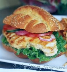 Honey-Citrus Chicken Sandwiches Recipe - marinate chicken breast in: 1/4 cup honey, lemon juice and orange juice; 1 tbs mustard; 1/4 ts poultry seasoing and cayenne pepper; 1 tbs olive oil