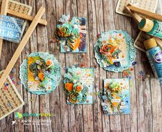 Scraps N Pieces - the Blog: February Challenge - Dare to Blossom ATCs by Marila Lillepruun