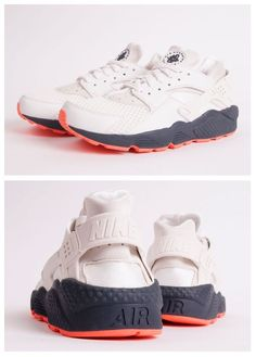 competitive price 2a74e 2ede0 Nike Air Huarache  White Grey Orange