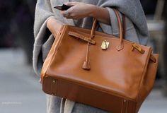 Brown Birkin bag = perfect for any season