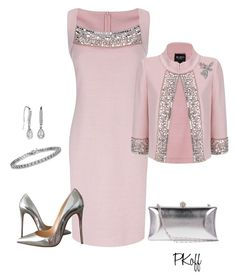 """""""Wedding!"""" by pkoff ❤ liked on Polyvore featuring St. John and Christian Louboutin"""