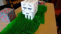 minecraft ghast, minecraft ghast 3d perler, epic perler bead creations, huge perler beads, 3D perler beads, minecraft birthday party ideas,