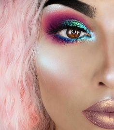 Boudoir - Make up looks♡ - Eye-Makeup Makeup Eye Looks, Eye Makeup Art, Eyeshadow Makeup, Fun Makeup, Basic Eye Makeup, Wolf Makeup, Party Makeup Looks, Eye Makeup Designs, Dead Makeup