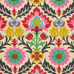 Modern Ikat Fabric Upholstery Fabric by the by greenapplefabrics
