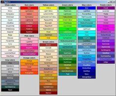 #colours #names #adjetives #voc #ELT
