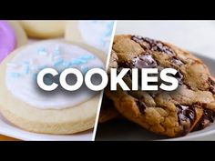 Tasty- The 5 Best Classic Cookie Recipes Easy Christmas Cookie Recipes, Delicious Cookie Recipes, Best Cookie Recipes, Dessert Recipes, Holiday Cookies, Dessert Simple, Best Sugar Cookies, Sugar Cookies Recipe, Churros