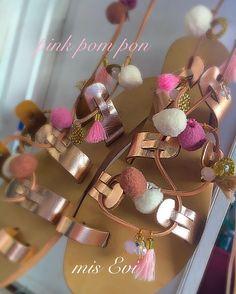 Pink pom pon!!!!! Handmade leather sandals Pom Pon, Greek Sandals, Handmade Leather, Leather Sandals, Unique, Pink, Shoe, Pink Hair, Roses