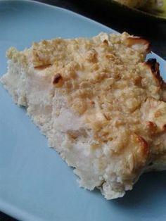 Gâteau du matin flocons d'avoine, jus de citron, pommes 0 en jsc à couper en 4 2 oeufs 80gr de flocons d'avoine 200g de fromage blanc 0% 3 pommes le jus de 2 citrons (environ car moi c'est mon jus de citron en petite bouteille jaune). Préchauffer le four...