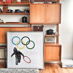 Take back to the #LondonOlympics with #PureEvil's 'Hackney Looting Team'. More work by the artist can be found here: http://www.nellyduff.com/artists/pure-evil