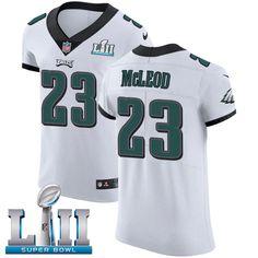 8f7eaf85910 Nike Eagles #23 Rodney McLeod Jr White Super Bowl LII Men's Stitched NFL Vapor  Untouchable Elite Jersey