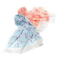 Bright Block Printed Cotton Scarves  : This brightly colored Block Printed Cotton Scarf is made from the softest of cotton and each piece is block printed by hand.