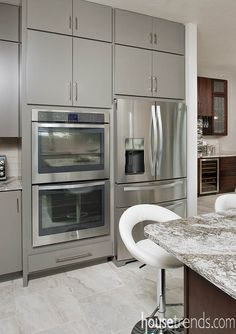 Stainless steel refrigerator gets a prime position