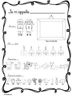 A simple version of a Get to Know Me activity sheet for primary FSL students.No writing involved (except name).  My kindergartens can complete, share their work with the class (with limited assistance) and read their friend's work after we make it into a class book.