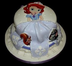 Princess Sofia the First Cake Cupcakes, Cupcake Cakes, Princess Sofia Cake, Sofia The First Cake, Dora Cake, Prince Cake, Cake Templates, Mermaid Cakes, Character Cakes