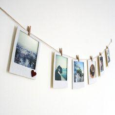 Felt Polaroid Banner - http://www.diycraftsblog.com/felt-polaroid-banner/ #Banner, #Felt, #Polaroid