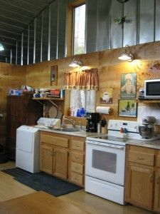 Interior of Quonset hut home