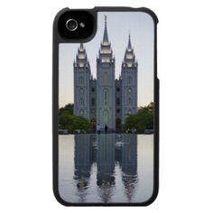 Salt Lake Temple Evening iPhone 4 Cases
