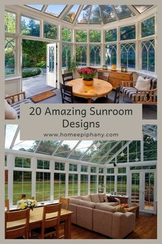 It doesn't get much better than a sunroom. Here are 20 stunning design ideas for your sun room! Home Epiphany, Home Studio Setup, Home Bar Designs, Blue Color Schemes, Family Room Design, Window Design, Other Rooms, Bars For Home, Sunroom