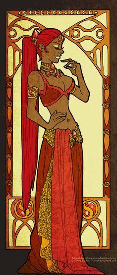Art Nouveau: Nabooru by ~dani-starr18 on deviantART