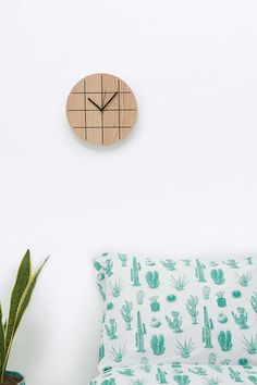 Wooden Grid Clock - Urban Outfitters